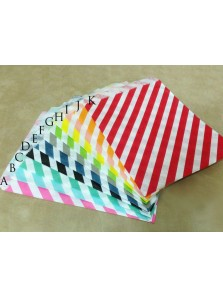 Tas Ultah Paper Bag Strip Diagonal