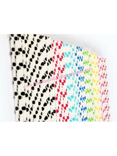 Paper Straw - Big Dots