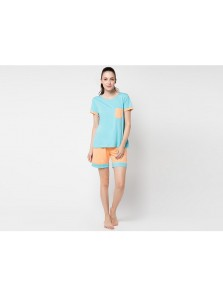 Pyjama Short Sleeve Short Pants Kortnie Kantong