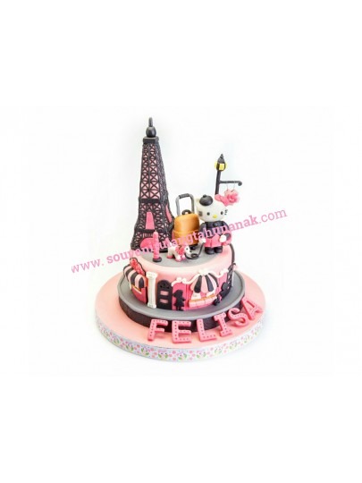Kue Ultah Paris Kitty