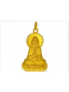 New Buddha Pendant In Almost Pure Yellow Gold H-P001 (Preloved)