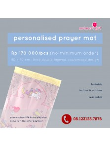 personalised prayer mat (sajadah)