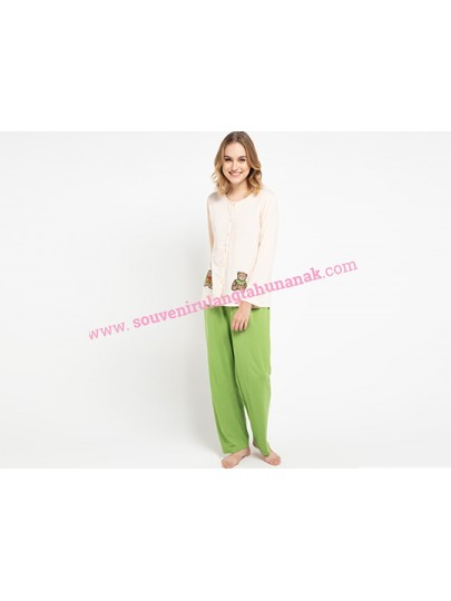 Pyjama Long Sleeve Long Pants Tedy Bear Sleepwear