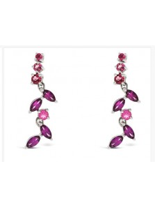 Rubelite White Gold Earrings H-E002 (Preloved)