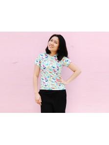 Baju Ultah Full Print